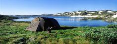Tenting on Hardangervidda in Norway