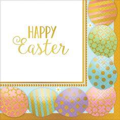 Golden Easter Luncheon Napkins (103588)