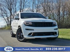 This 2014 Jeep Grand Cherokee SRT8 has a lot to offer: 4WD, 6.4L HEMI V-8 OHV with 470 HP @ 6,000 RPM and 465 ft lb of torque @ 4,300 RPM, backup camera, internal HD navigation system with 3D and voice, leather, Bluetooth, push button start, auto climate control, satellite-capable radio, power lift gate, panoramic sunroof, automatic headlights, heated/cooled power front seats, heated rear seats, front & rear park assist, hard drive media storage, and more!
