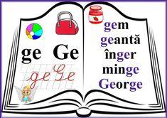 grupurile de litere - grupul GE Language Activities, Activities For Kids, Dream Job, Classroom Decor, Rum, Coloring Pages, Homeschool, Teaching, Decoration