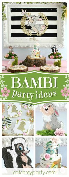 Take a look at this gorgeous Bambi inspired 3rd birthday party. Love the cake!! See more party ideas and share yours at CatchMyParty.com