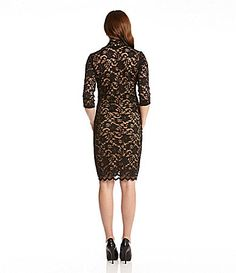 447df06c3ef Karen Kane Black Scalloped Lace Dress available from Dillard s  Karen Kane   Black  Scalloped