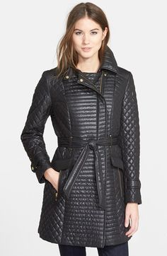 Via Spiga Belted Asymmetrical Quilted Coat available at #Nordstrom