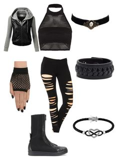 """Naruto OC, Ninja outfit (Hōseki)"" by creativekeys ❤ liked on Polyvore featuring Y-3, Boohoo, J.TOMSON, Frye, Jewel Exclusive, women's clothing, women's fashion, women, female and woman"