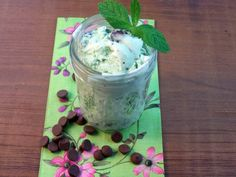 Mint Chocolate Chip Ice Cream. This is good and great for my ice cream maker.