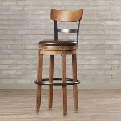 "Trent Austin Design Lynwood 30.25"" Swivel Bar Stool with Cushion & Reviews 