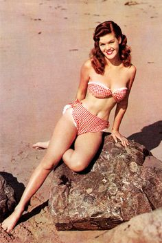 Pin-up, C.1950's - bathing suit my mom was a swimsuit model in the late 40's ~ she modeled a suit very similar!