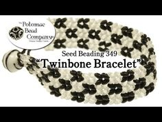 'Twinbone' Bracelet - Flat Herringbone using Preciosa Twin Beads