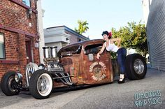 Rat Rod Girls, Car Girls, Hot Rod Pickup, Rat Look, Hot Rod Trucks, Gas Pumps, Amazing Cars, Awesome, Hot Cars