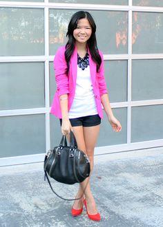 hot pink blazer. « jenny in jacquard