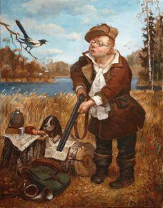 Картины (живопись) : Охотник. Автор Андрей Алексеевич Шишкин