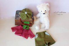 "Teddy Bear style Artist German Shulte Mohair "" Veniamin"" 11.4 inch handmade OOAK collectible jointed Teddy Bear toy"