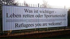 #Karow gibt die richtige Antwort! #Refugeeswelcome Gegen rassistische Hetze!