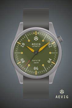 Aevig corvid green automatic