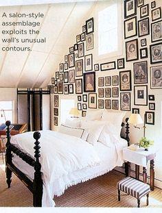 Bedroom gallery wall inspiration.