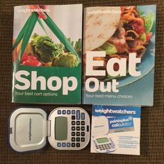 Weight Watchers points plus books and calculator Weight Watchers points plus Shop and the Eat Out book 2014 and points plus calculator. Slightly used. If you prefer to stick with the points plus program this is a must have. All offers considered. Other