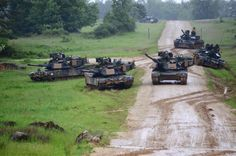 Army Abrams and Romanian tanks during an exercise in Germany in May. Photo via Indian Defence Forum Army Usa, Us Army, Army Vehicles, Armored Vehicles, Patton Tank, World Tanks, Tank Armor, Armored Fighting Vehicle, Military Diorama