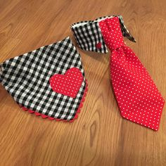 Hot off the machine! Custom his and hers #ValentinesDay set. #GagaForGingham - #etsy #shopsmall #etsyseller #handmadeisbetter #hearts #gingham #animalsinbowties #handmade #gifts #polkadots #dapper #dapperdogs #petsagram #dogsofinstagram