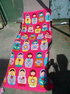 Matryoshka beach towel