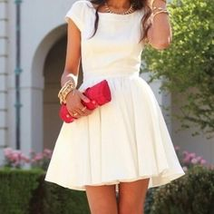 I want a cute white dress like this for my reception!