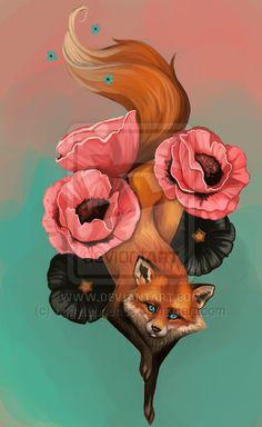 Fox Tattoo 2 by *tiggytuppence on deviantART