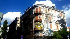 Tu lo abbandoni, io lo dipingo. Street art, desenho, art, colors, Lisboa, Picoas