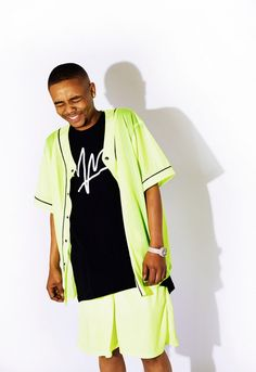 From Capetown designer Anees Petersen's new lookbook, which is heavily inspired by '90s neon sportswear.
