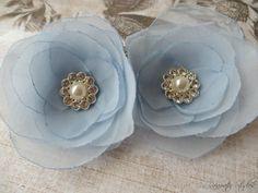 Wedding Hair Flowers  Powder Blue Chiffon Hair by RainwaterStudios, $25.00