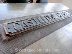 Conveyor Belt turned Table Runner & UK street sign