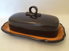 MIKASA ITALIAN TERRACE Butter Dish  Covered Lid by SavingThePast