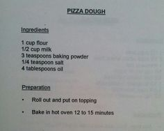 yeast less pizza dough recipes pinterest pizzas food and dinners
