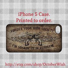 Kerosene iPhone 5 Case -Miranda Lambert. £12.00, via Etsy.