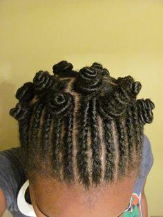 Flat Twists + Bantu Knots
