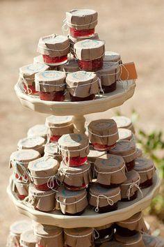 I like the idea of jam as favors