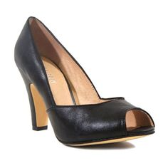 Chelsea Crew Black Exotic Pump ($30) ❤ liked on Polyvore