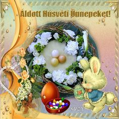 Húsvéti képeslapok 1... Easter, Breakfast, Food, Google, Nails, Morning Coffee, Finger Nails, Meal, Ongles