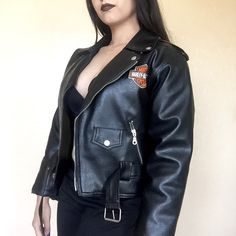 • Harley Davidson • Leather Jacket Genuine leather Harley jacket. Runs small, quilted inside for a warmer touch. Fits like a small; tag says M/12 (I'm guessing juniors because it's definitely a small in women's) Harley-Davidson Jackets & Coats