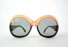 by VintagetoFrance 70s Sunglasses, Vintage Sunglasses, Prescription Sunglasses, Oversized Sunglasses, Sunnies, Eccentric Style, Fashion Forward, Lenses, Frames