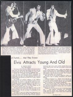 Elvis Presley Newspaper Concert Review for Mobile AL. 1974 Part 1 | Flickr - Photo Sharing!