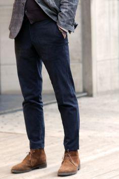 Don Pelayo — linenforsummertweedforwinter: Suede Boots and...