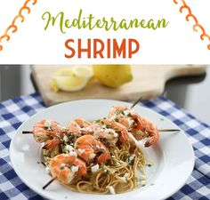 This freezer-friendly shrimp will make even the most reluctant seafood eaters happy! It's a fun one to serve for family dinner or as a party appetizer. Make Ahead Freezer Meals, Freezer Cooking, Freezable Meals, Mediterranean Shrimp Recipe, Mediterranean Meals, Frozen Meals, Dinner Recipes, Dinner Ideas, Meal Recipes
