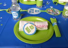 Place Settings at a Lego Star Wars Party #legostarwars #party