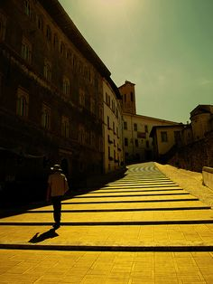 Spoleto - lost in de chirico world by motocchio, via Flickr