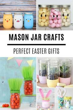 Hop Hop Hop like a Bunny! Don't miss these super cute Easter bunny crafts for kids to make - perfect for a Sunday afternoon of fun! Everything from craft sticks to toilet roll bunnies. Wine Bottle Crafts, Mason Jar Crafts, Mason Jar Diy, Easter Crafts For Toddlers, Crafts For Teens, Teen Crafts, Bunny Crafts, Diy Crafts, Decor Crafts