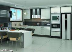 Resultado de imagem para cozinhas planejadas grande