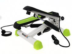 awesome MAXOfit® Deluxe Stepper Greenline MF-11, Ministepper, inclusive bandas de entrenamiento látex