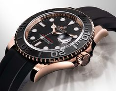 Baselworld 2015: The new for 2015 116655 Rolex Yacht-Master watch in 18k Everose gold with the Oysterflex bracelet.