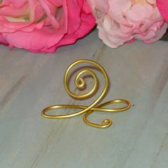 Gold Wire Name Place Cards, or Wire Table Number Holders, Gold Wire infinity Bow Table Number Holders, See .99 cent ea.  Bundle Special