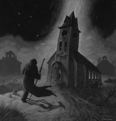 """""""Whateley in Innsmouth"""", por Paul Carrick. Un crossover. Gothic Horror, Gothic Art, Horror Art, Lovecraft Cthulhu, Hp Lovecraft, Call Of Cthulhu Rpg, Cthulhu Art, Lovecraftian Horror, Steampunk"""