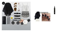 """""""black and white"""" by aneukrfl on Polyvore featuring MANGO, Acne Studios, Relaxfeel, TravelSmith, Nine West, MICHAEL Michael Kors, Daniel Wellington, NARS Cosmetics, Chicwish and white"""